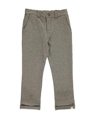 Boy's Jersey Straight Leg Pants w/ Children's Book, Size 2T-10