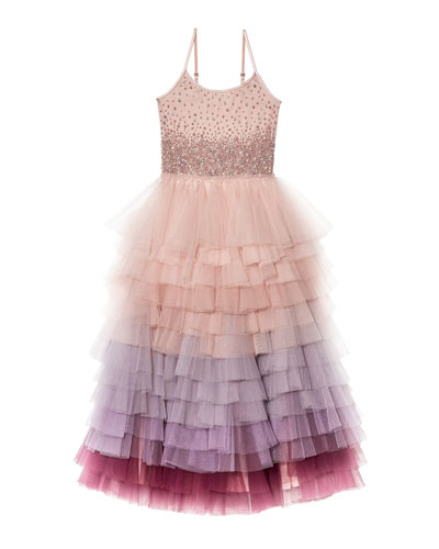 Girl's Keepsake Long Tutu Dress, Size 4-11