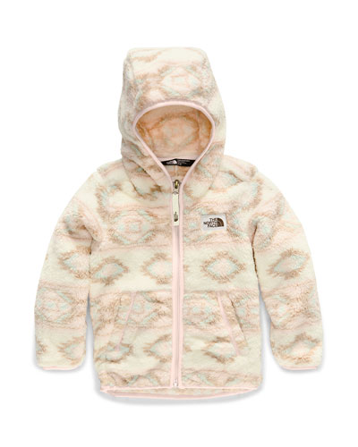 Girl's Campshire Hooded Sherpa Fleece Jacket, Size 2-4T