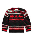 Ralph Lauren Childrenswear Boy's Reindeer Fair Isle Knit