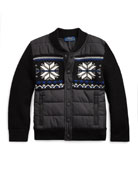 Ralph Lauren Childrenswear Boy's Merino Wool Hybrid Sweater
