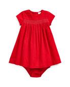 Ralph Lauren Childrenswear Girl's Smocked Corduroy Dress w/