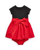 Ralph Lauren Childrenswear Girl's Jersey Knit Woven Dress