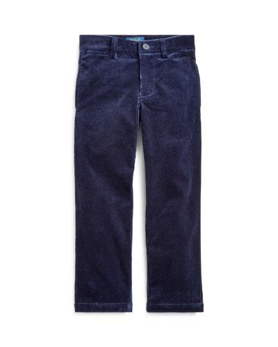 Boy's Stretch Corduroy Slim Fit Pants, Size 5-7