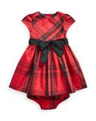 Ralph Lauren Childrenswear Girl's Taffeta Plaid Dress w/