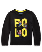 Ralph Lauren Childrenswear Boy's Merino Wool Logo Sweater,
