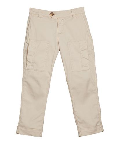 Boy's Cotton Cargo Pants, Size 8-10