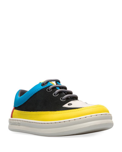 Colorblock Leather & Suede Sneakers, Toddler/Kids