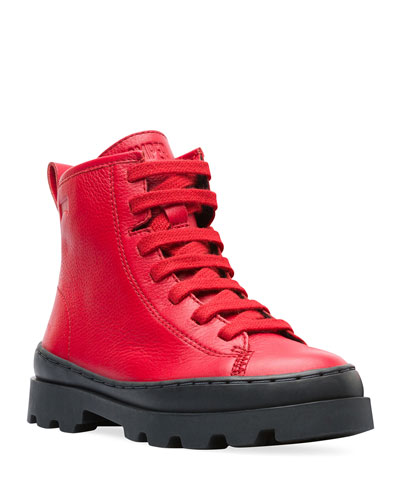 High-Top Leather Boots, Toddler/Kids