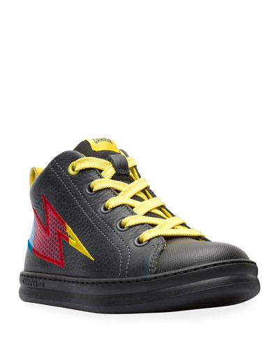 Lightning Bolt Leather Sneakers, Toddler/Kids