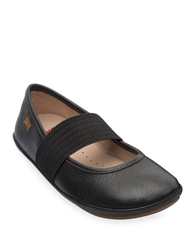 Leather Elastic Band Flats, Toddler/Kids