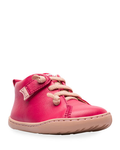 Lace-Up Leather Boots, Baby/Toddler