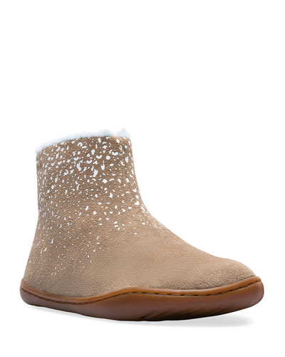 Suede Boots w/ Faux Fur Lining, Toddler/Kids
