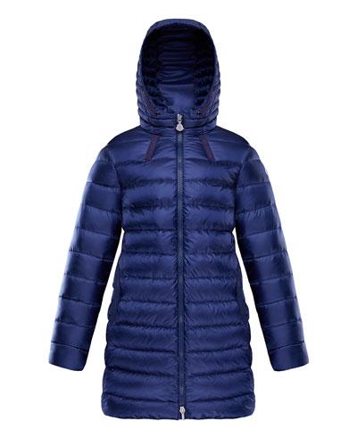 Girl's Jacinte Long Hooded Parka, Size 8-14