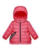 Moncler Girl's Muguet Quilted Logo Taping Jacket, Size