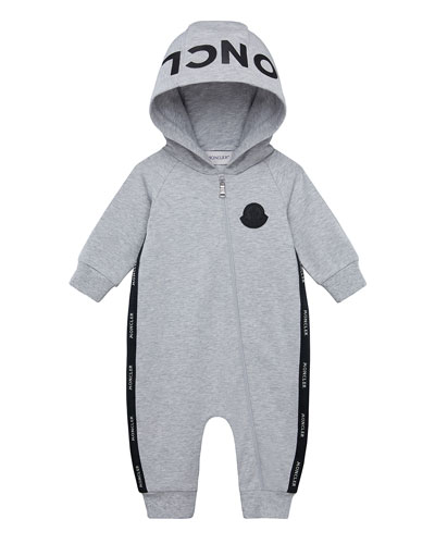 Boy's Logo Hooded Coverall, Size 3-18 Months