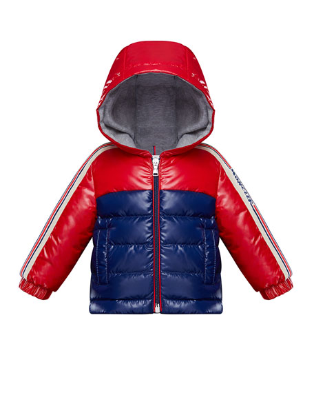 Moncler Boy's Jonc Lacquered Two-Tone Jacket, Size 9M-3