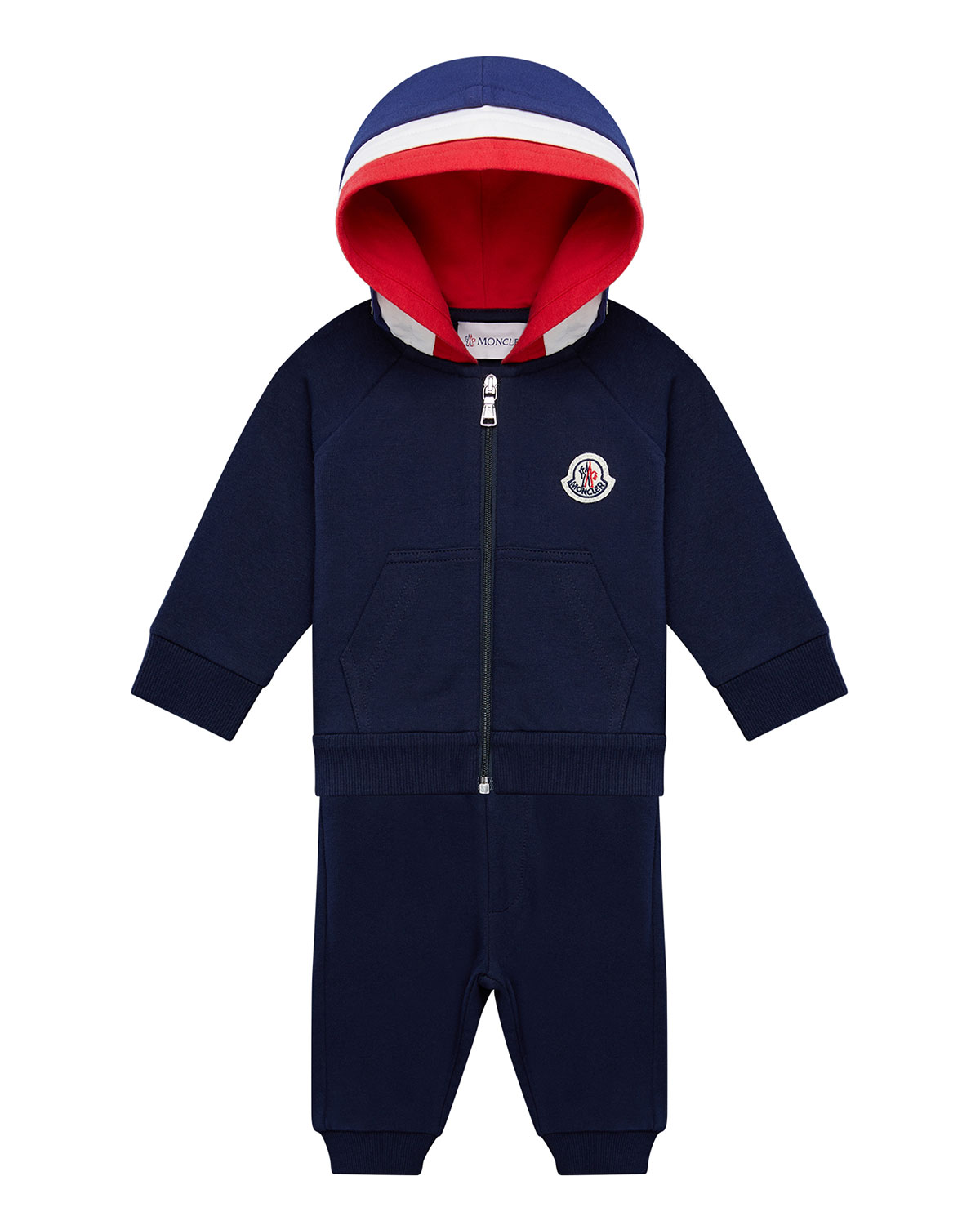 Moncler Boys' Color-block Hoodie & Jogger Pants Set - Baby, Little Kid In Blue