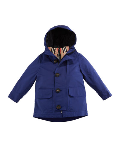 Boy's Rowan 3-in-1 Parka w/ Removable Icon Stripe Puffer, Size 3-14