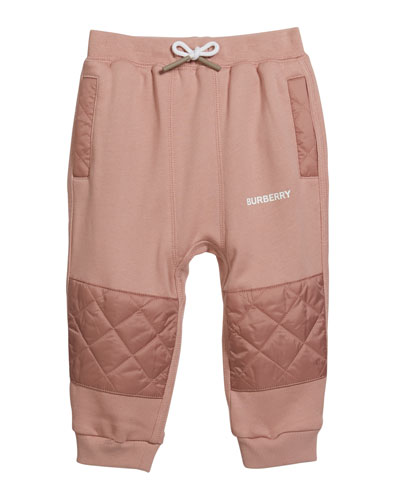 Boy's Mio Drawstring Sweatpants w/ Quilted Insets, Size 12M-2