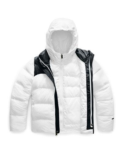 Girl's Double Down Triclimate Jacket, Size XXS-XL