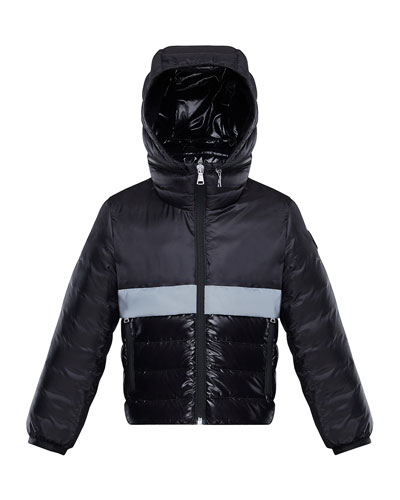 Boy's Verdun Reflective Tape Hooded Jacket, Size 4-6