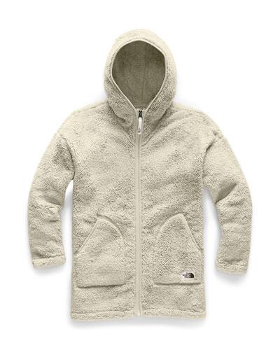 Girl's Campshire Long Fleece Hooded Jacket, Size XXS-XL