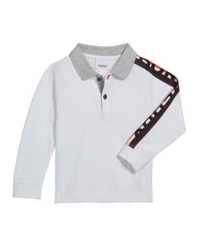 Boy's Duncan Polo Shirt w/ Logo Down Sleeve, Size 12M-2