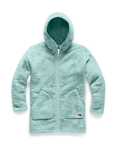 Girl's Campshire Long Fleece Hooded Jacket, Size XXS-XL