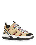Burberry Icon Stripe Low-Top Chunky Sneakers, Toddler/Kids