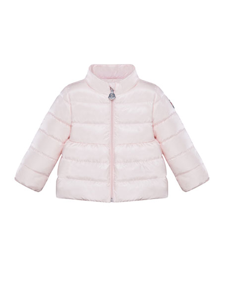 Moncler Joelle Short Parka Jacket, Sizes 9 months-3