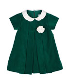 Florence Eiseman Girl's Twill Velvet Dress w/ Rosette,