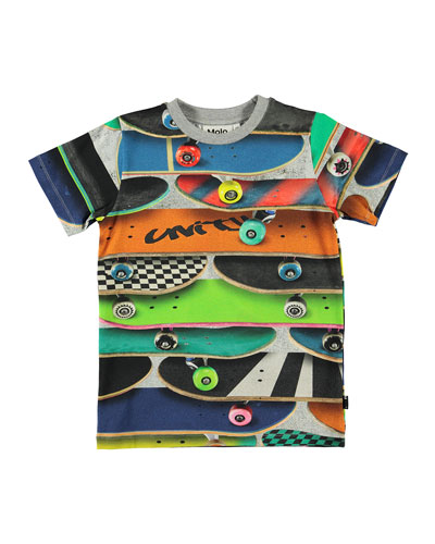 Boy's Ralphie Allover Cars Print Tee, Size 4-12