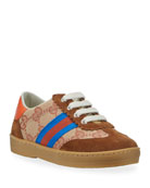 Gucci GG Canvas Retro Sneakers, Baby/Toddler