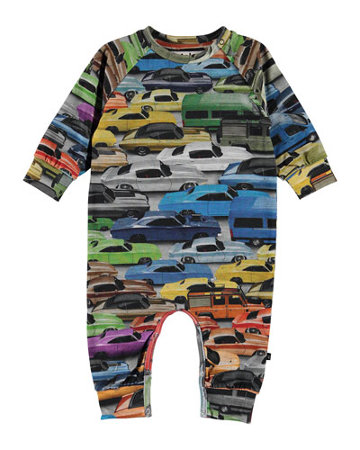 Boy's Fairfax Car Print Coverall, Size 3-18 Months