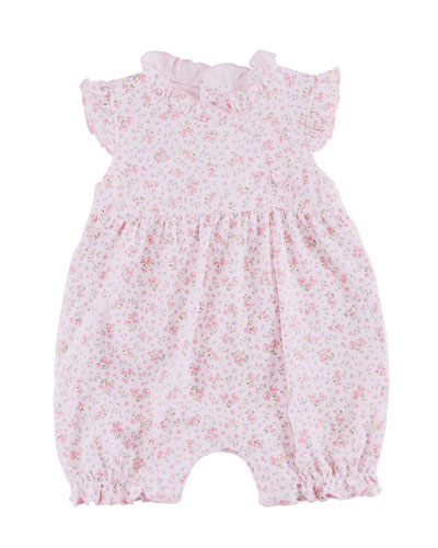 Dusty Rose Pima Ruffle Playsuit, Size 3-24 Months