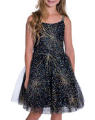 Zoe Girl's Firework Sparkle Skater Party Dress, Size