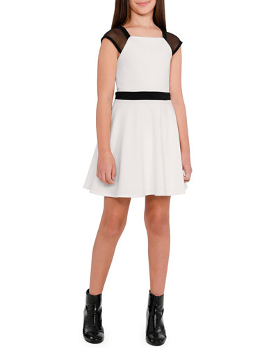 The York Mesh Trim Dress, Size S-XL