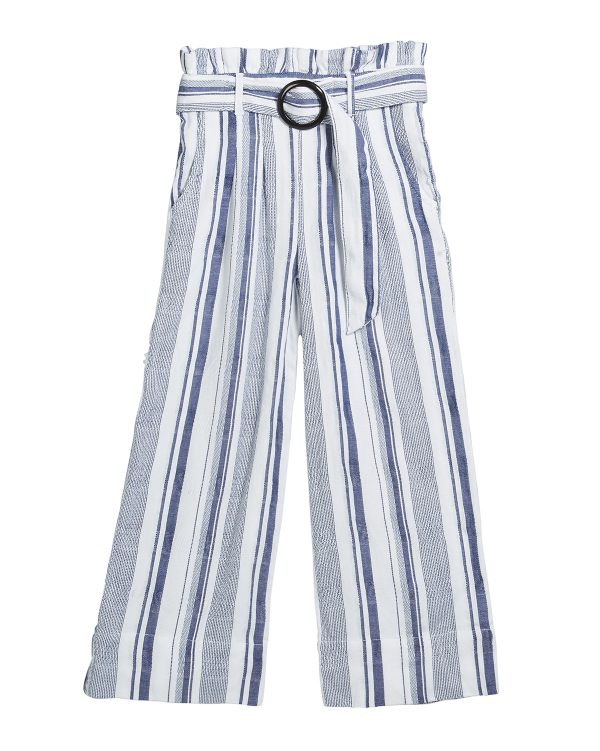 Habitual GIRL'S STRIPED PAPER BAG BELTED PANTS