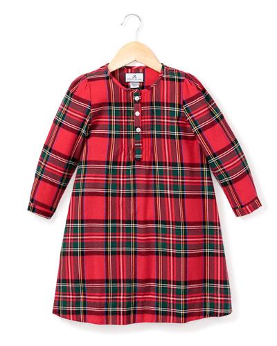Beatrice Tartan Plaid Nightgown, Size 6M-14