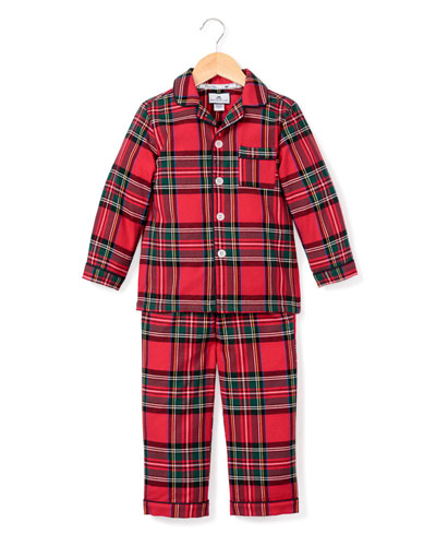 Imperial Tartan Plaid Two-Piece Pajama Set, Size 6M-14