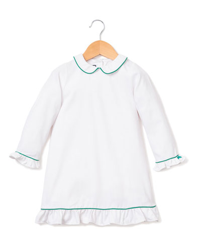 Sophia Nightgown w/ Contrast Piping, Size 6M-14