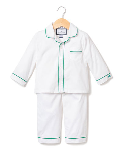 Contrast Piping Two-Piece Pajama Set, Size 6M-14