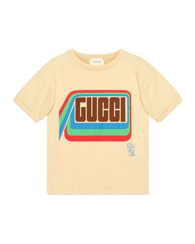 Boy's Tiger Graphic Short-Sleeve Logo T-Shirt, Size 4-12