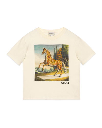 Kid's Horse Graphic Short-Sleeve T-Shirt, Size 4-12