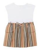 Burberry Girl's Ramona Icon Stripe Jersey Dress, Size