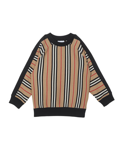 Boy's Lance Icon Stripe Terry Sweatshirt, Size 3-14