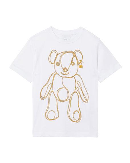 Burberry Girl's Chain Bear Short-Sleeve Tee, Size 3-14