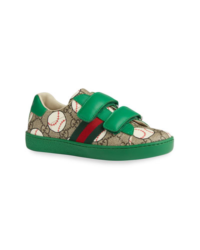 New Ace GG Supreme Baseball-Print Sneakers, Toddler/Kids