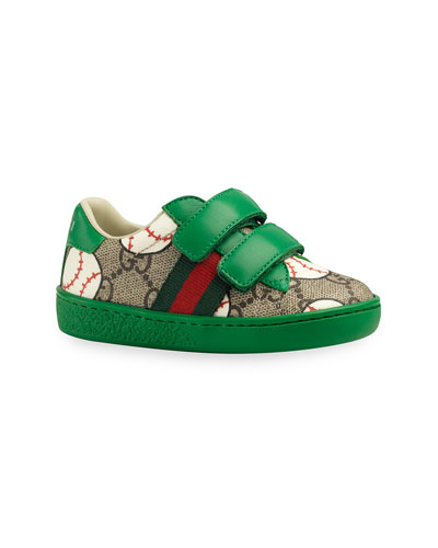 New Ace GG Supreme Baseball-Print Sneakers, Baby/Toddler